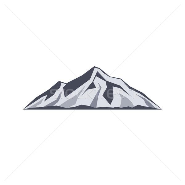 ストックフォト: 山 · にログイン · シンボル · ベクトル · 芸術 · ビーチ