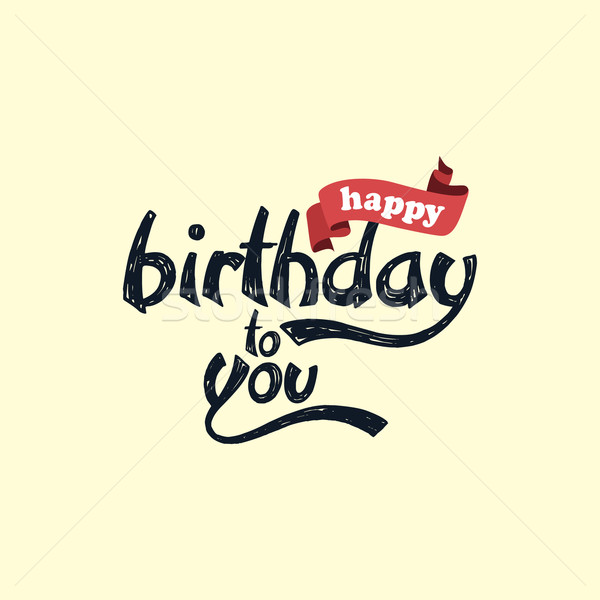 happy birthday art theme Stock photo © vector1st