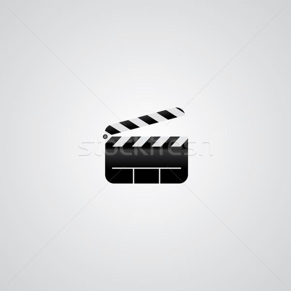 Film logotípus vektoros kép grafikus illusztráció film Stock fotó © vector1st