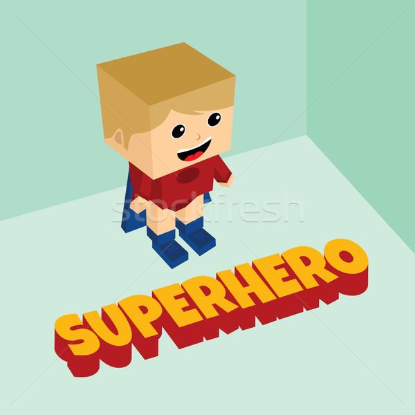 amazing superhero isometric theme Stock photo © vector1st