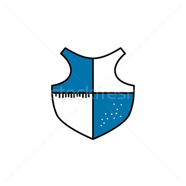 cartoon shield doodle theme Stock photo © vector1st