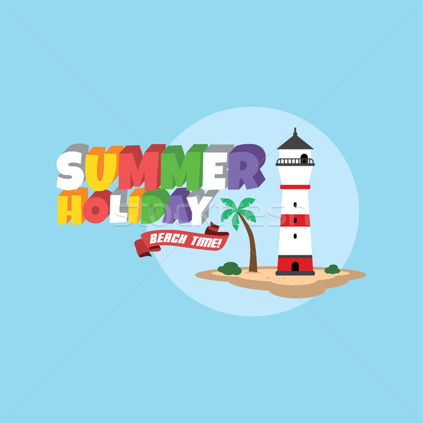Summer holiday retro cartoon theme Stock photo © vector1st