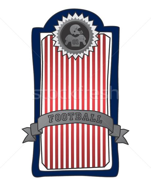 Amerikai futball vektor grafikus művészet terv Stock fotó © vector1st