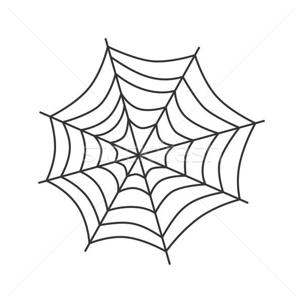Pókháló művészet vektor grafikus pók veszély Stock fotó © vector1st