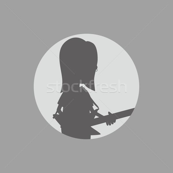 シルエット 男 芸術 ベクトル グラフィック 実例 ストックフォト © vector1st