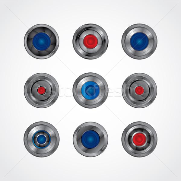 Kamery fotografii przycisk wektora sztuki Zdjęcia stock © vector1st
