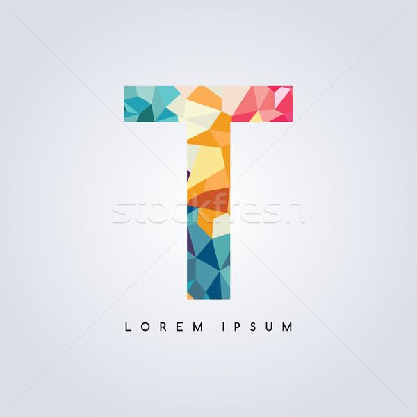 手紙 ロゴタイプ ロゴ 抽象的な カラフル 三角形 ストックフォト © vector1st