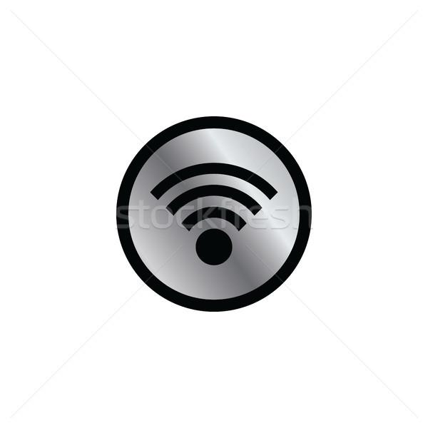 Kolor stronie Internetu ikona przycisk Zdjęcia stock © vector1st