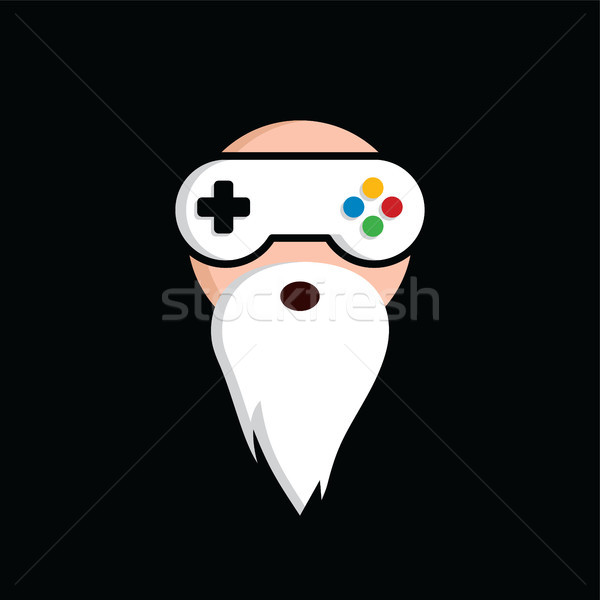 game guru - master gamer - video game theme logo - logotype vector Stock photo © vector1st