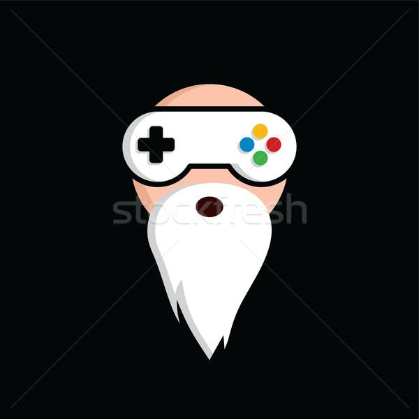 Játék guru mester videojáték logo logotípus Stock fotó © vector1st