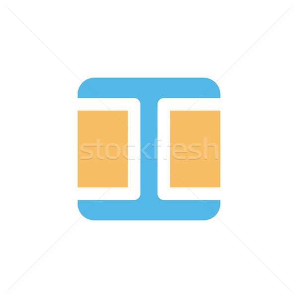 квадратный окна форма стиль современных икона Сток-фото © vector1st
