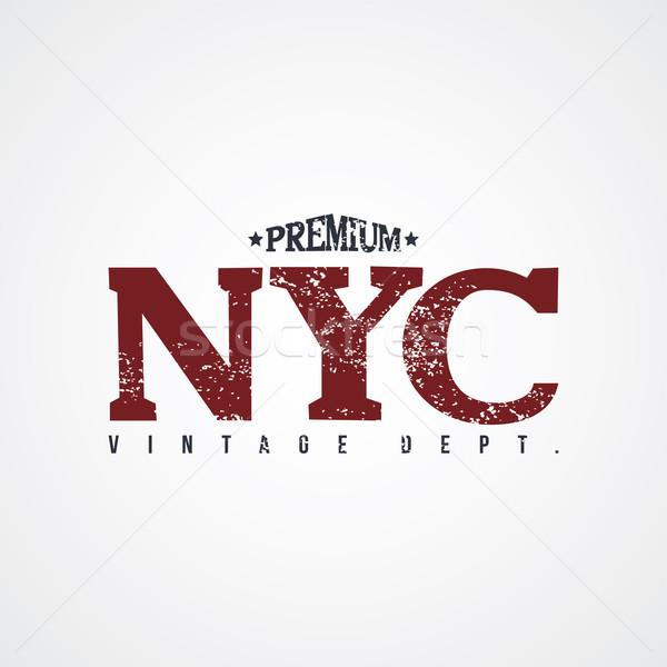 New York vector kunst illustratie skyline winkel Stockfoto © vector1st