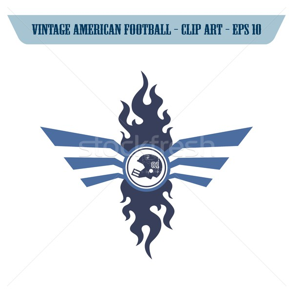Amerykański piłka nożna ikona wektora graficzne Zdjęcia stock © vector1st