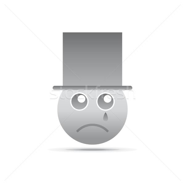 Emoción cara carácter icono vector gráfico Foto stock © vector1st