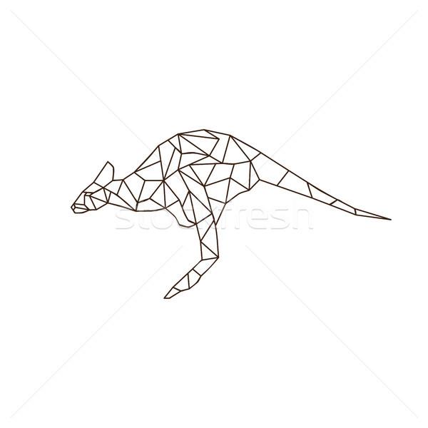 Kangaroo jump colorful mosaic pattern Stock photo © vector1st