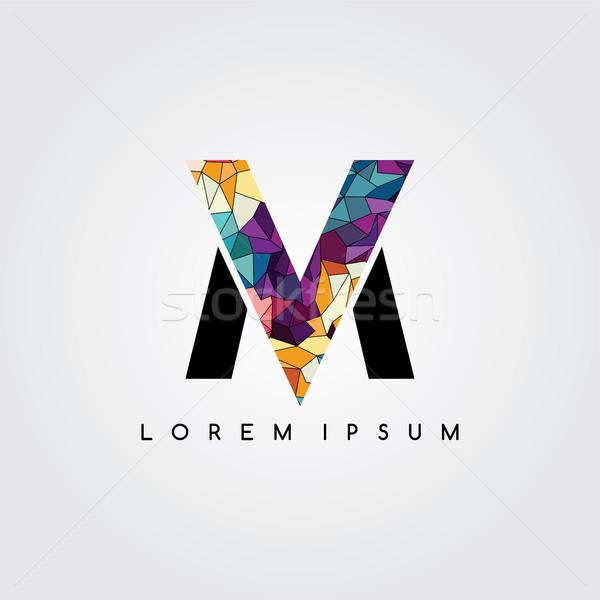Mektup logo soyut renkli geometrik Stok fotoğraf © vector1st