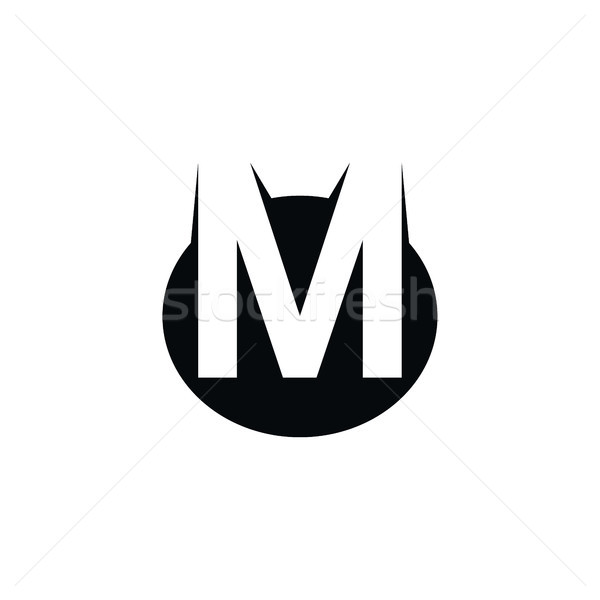 overlapped initial letter logo logotype theme Stock photo © vector1st