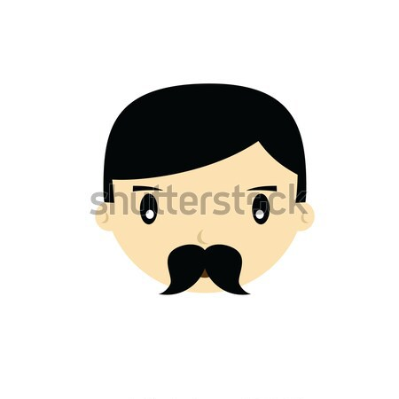 Rajz arc férfi fickó férfi vektor Stock fotó © vector1st