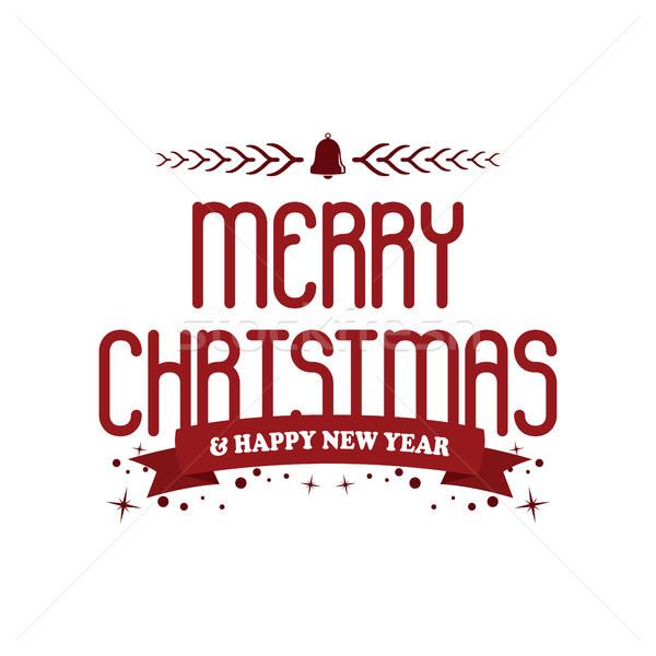 陽気な クリスマス 明けましておめでとうございます ベクトル 芸術 現在 ストックフォト © vector1st