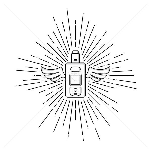 Stok fotoğraf: Elektrik · sigara · kişisel · vektör