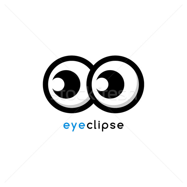 Cartoon oeil eclipse identité logo modèle Photo stock © vector1st