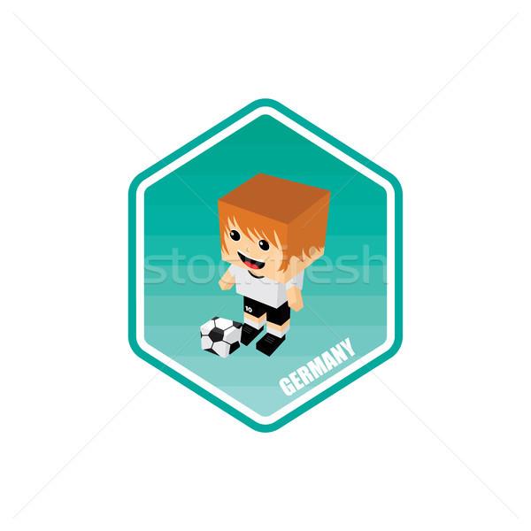 Футбол изометрический Германия вектора искусства Cartoon Сток-фото © vector1st