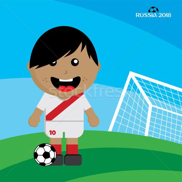 Сток-фото: группа · команда · футбольный · турнир · Россия · вектора · искусства