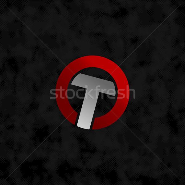 overlap alphabet letter art sign symbol Stock photo © vector1st