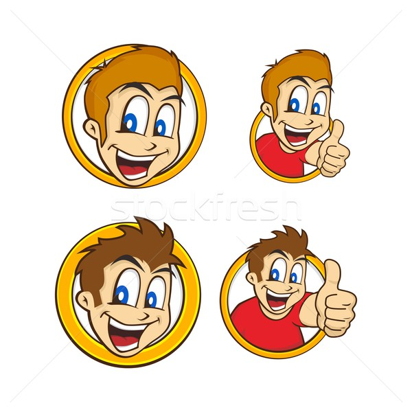 cartoon guy thumbs up Stock photo © vector1st