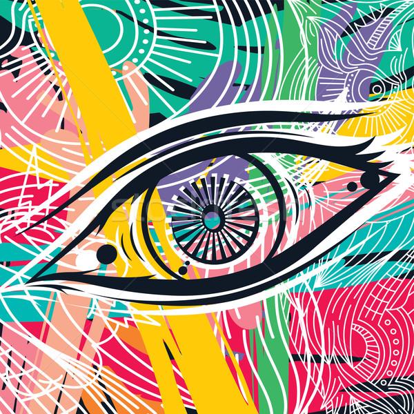 horus eye abstract art Stock photo © vector1st