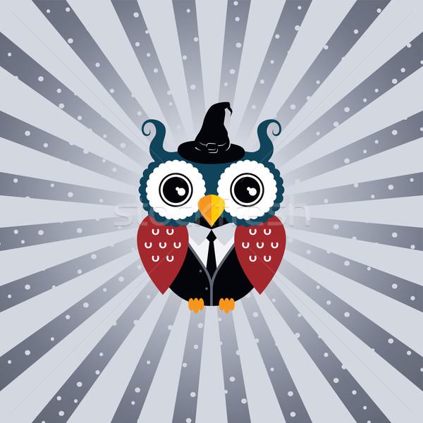 owl art theme Stock photo © vector1st