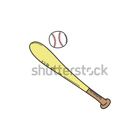baseball bat league sport theme Stock photo © vector1st