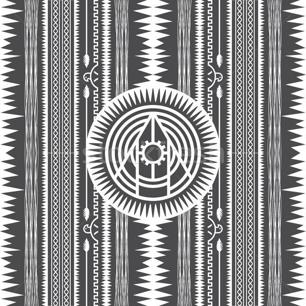 Yerli amerikan model vektör grafik sanat Stok fotoğraf © vector1st