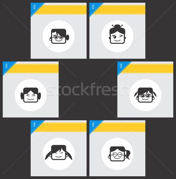 Avatar portret vector grafische kunst ontwerp Stockfoto © vector1st
