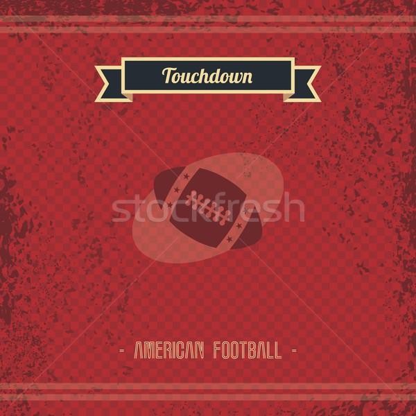Futebol retro página vintage modelo vetor Foto stock © vector1st
