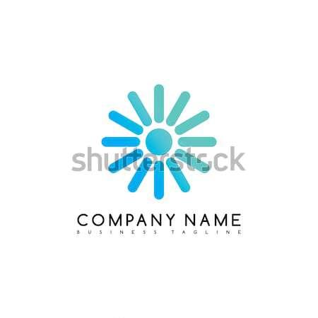 Kör logo logotípus márka sablon vektor Stock fotó © vector1st
