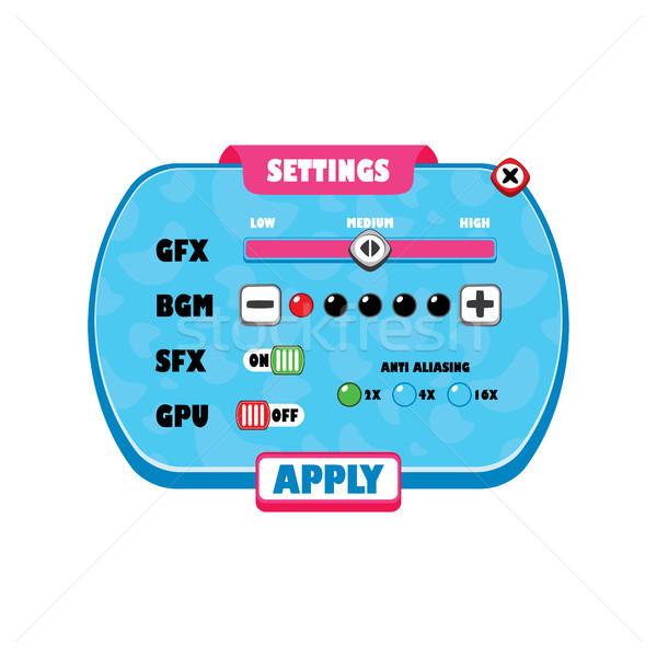 Gioco menu strato videogioco icona Foto d'archivio © vector1st