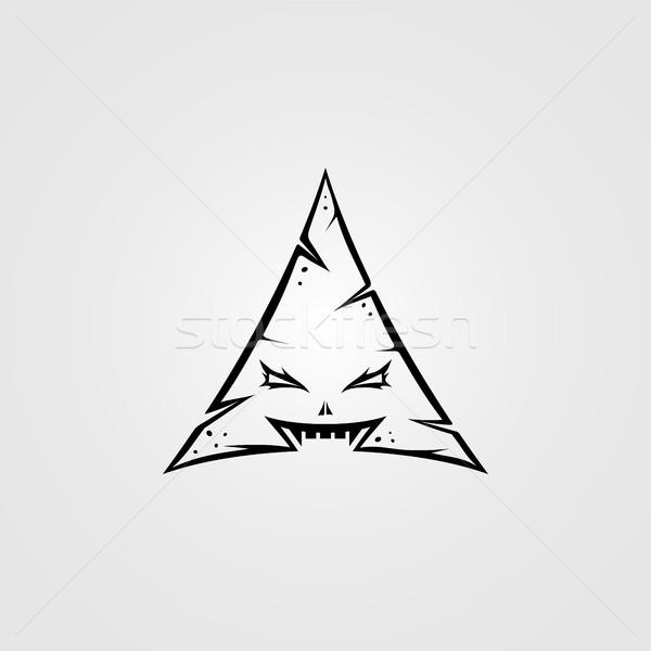 三角形 モンスター 文字 にログイン シンボル ストックフォト © vector1st