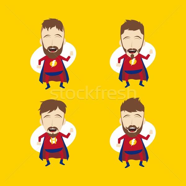 superhero cartoon Stock photo © vector1st