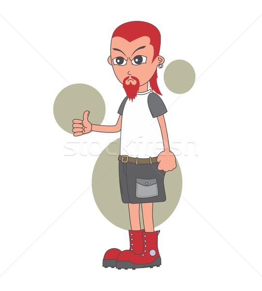 Cartoon tipo carácter vector gráfico Foto stock © vector1st