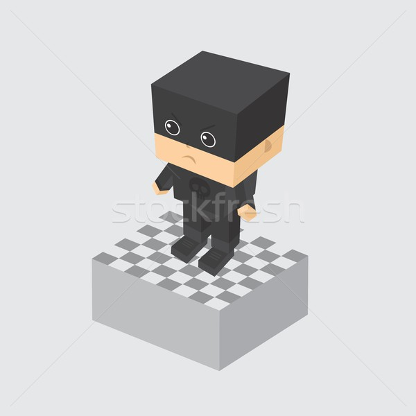 villain character option game assets element Stock photo © vector1st