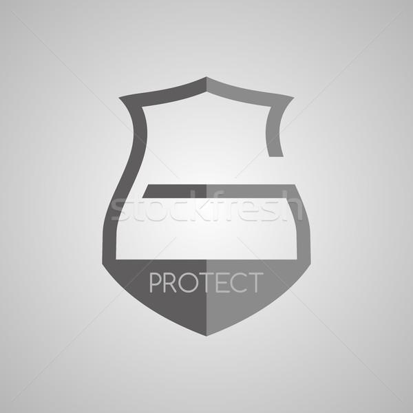 Zár védelem őr vektor művészet illusztráció Stock fotó © vector1st