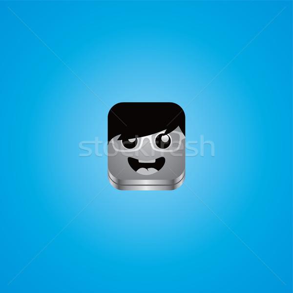 Geek парень Аватара портрет вектора искусства Сток-фото © vector1st