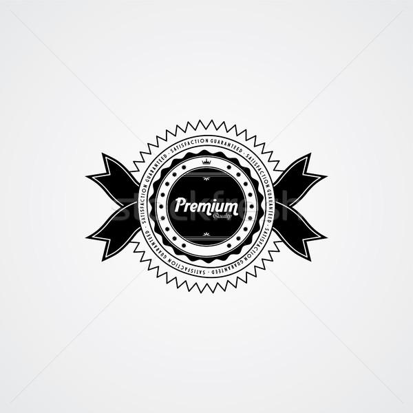 Prémium minőség kitűző címke vektor művészet Stock fotó © vector1st