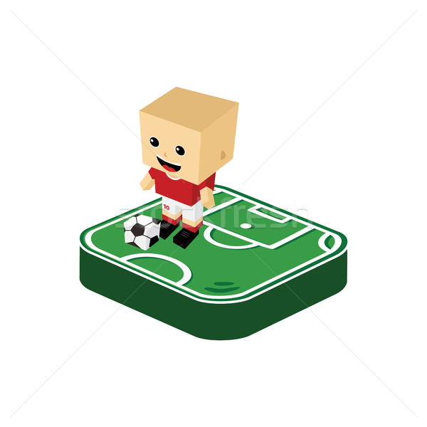 soccer player isometric cartoon Stock photo © vector1st