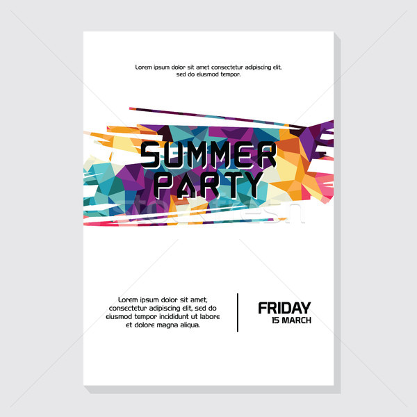 summer night beach party poster flyer Stock photo © vector1st