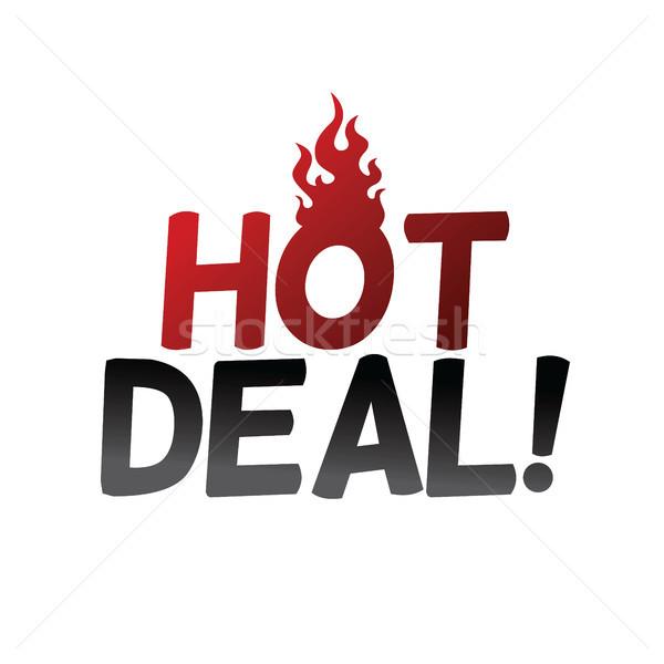 Hot item deal vector kunst Stockfoto © vector1st