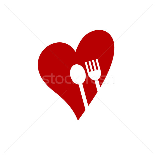 Restoran uygulama logo şablon vektör sanat Stok fotoğraf © vector1st