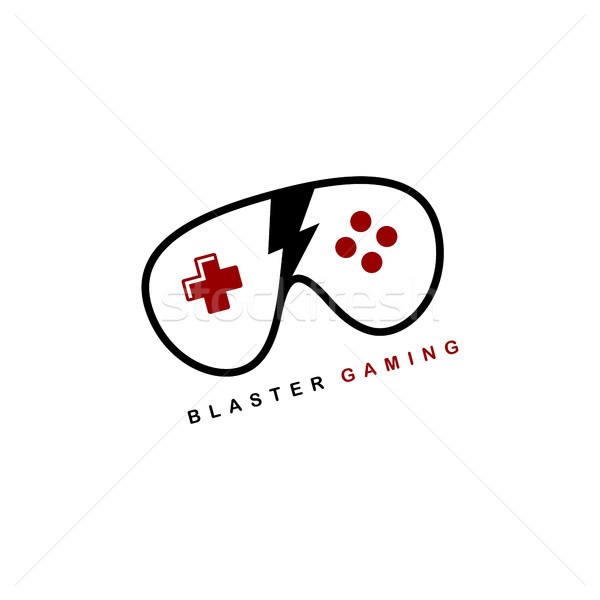 video game joystick console theme logo template Stock photo © vector1st