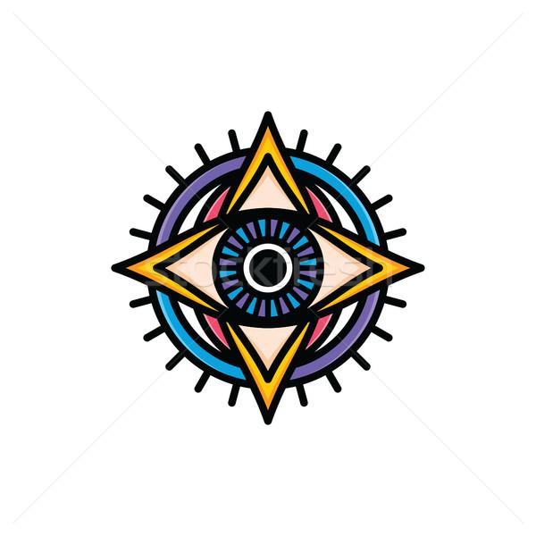 Stock photo: one eye of god religious sign symbol logo logotype